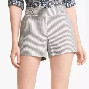 Tory Burch Sarah Jane Navy Dover Stripe Shorts 10